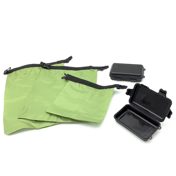 Dry Bags X 3 and Small Dry Boxes X 2, BLK
