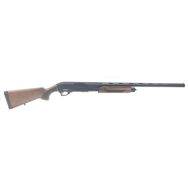 "Canuck Pioneer Pump Action Shotgun, 28"" Chrome Lined Barrel, 12ga 3"", Walnut, New"