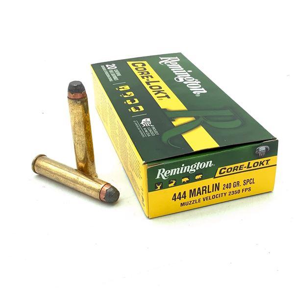 Remington Core Lokt 444 Marlin 240 Grain SPCL Ammunition, 20 Rounds