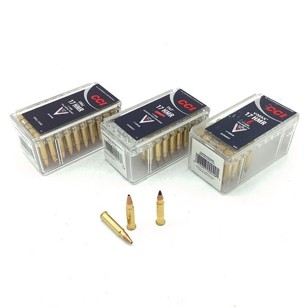 CCI 17 HMR Ammunition, 111 Rounds