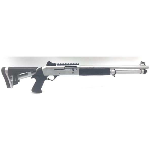 "Revolution Armory Impact Rev4 Tactical Semi-Auto Shotgun, 18.5"" Barrel, 12 Ga 3"", Nickel, New"