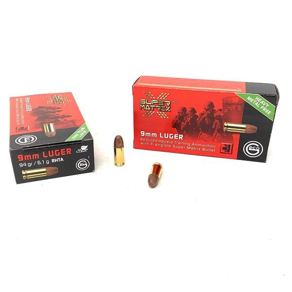 Geco Frangible Super Matrix 9mm Luger 94 Grain Ammunition, 100 Rounds