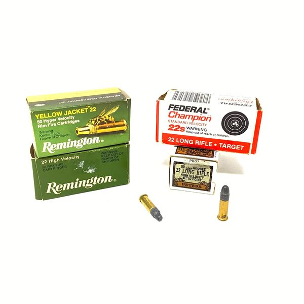 Assorted 22 LR Ammunition, Approx 144 Rounds