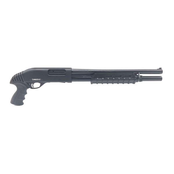 """Canuck Enforcer Pump-Action Shotgun, 17"""" Barrel, 12 Ga 3"""", 3 Stocks, Blk"""