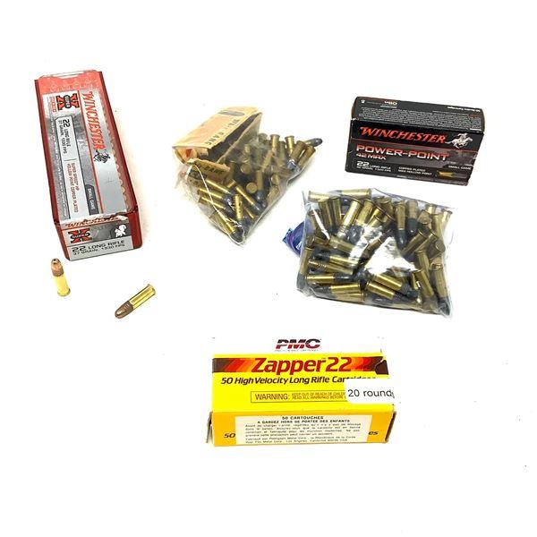 Assorted 22 LR Ammunition, Approx 245 Rounds
