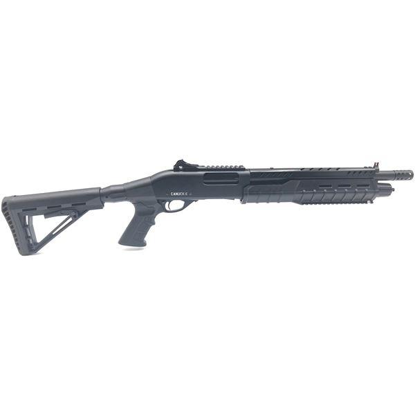 "Canuck Commander Pump-Action Shotgun, 14"" Barrel, 12 Ga. 3"", Black, Telescoping Stock, New"