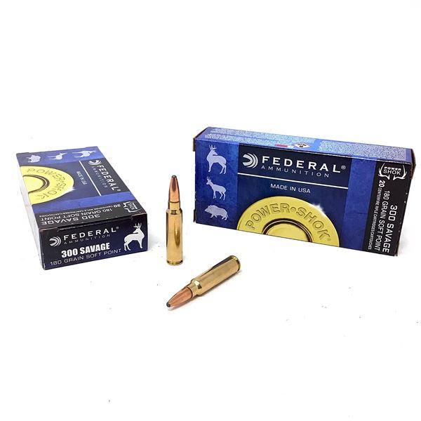 Federal Power Shok 300 Savage 180 Grain SP Ammunition, 40 Rounds
