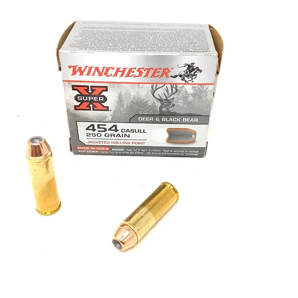 Winchester Super X 454 Casull 250 Grain Jacketed Hollow Point Ammunition, 20 Rounds