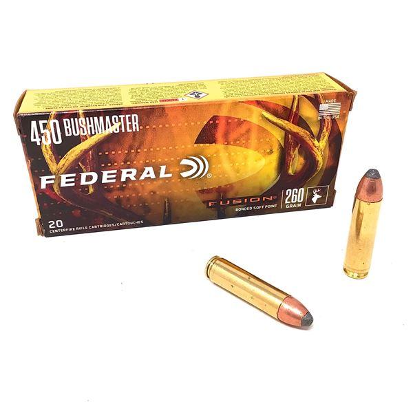 Federal Fusion 450 Bushmaster 260 Grain BSP Ammunition, 20 Rounds