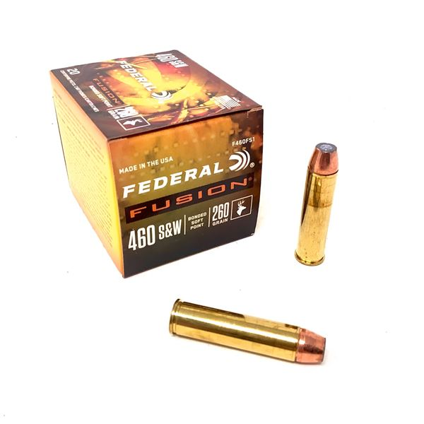 Federal Fusion 460 S & W 260 Grain BSP Ammunition, 20 Rounds
