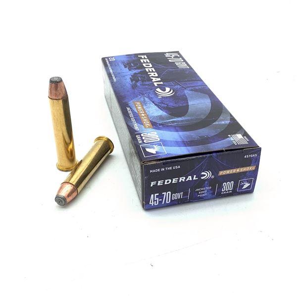 Federal Power Shok 45-70 Gov't 300 Grain JSP Ammunition, 20 Rounds