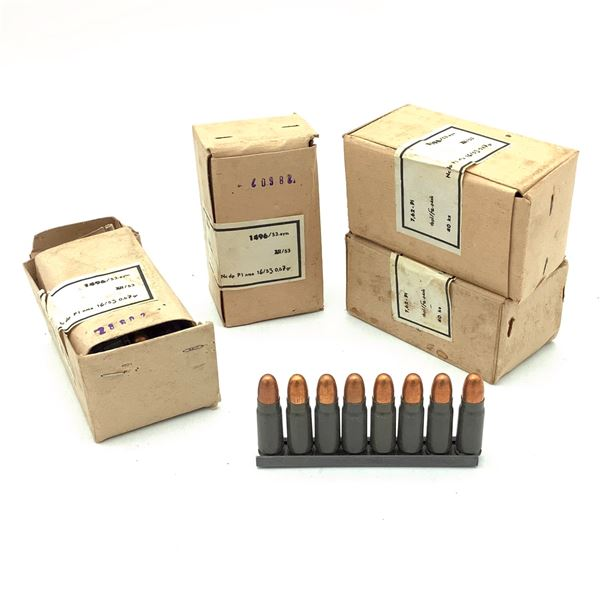 Surplus 7.62 X 25 FMJ Ammunition on Stripper Clips, 160 Rounds