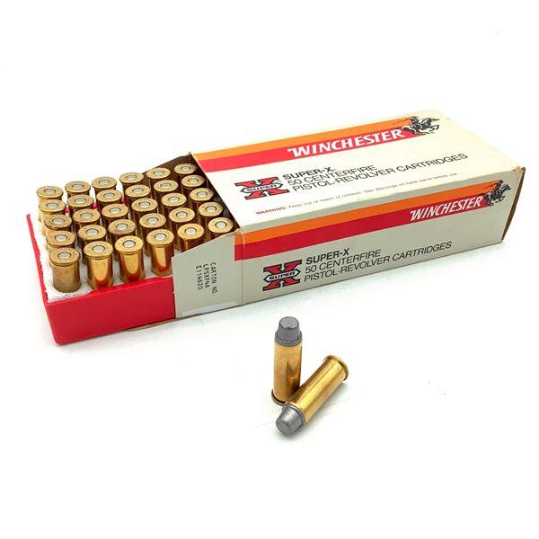 Winchester Super X 44 Rem Mag 240 Grain Lead SWC Ammunition, 50 Rounds