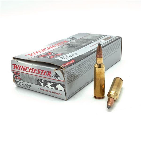 Winchester Power Point 300 WSM 180 Grain Ammunition, 20 Rounds