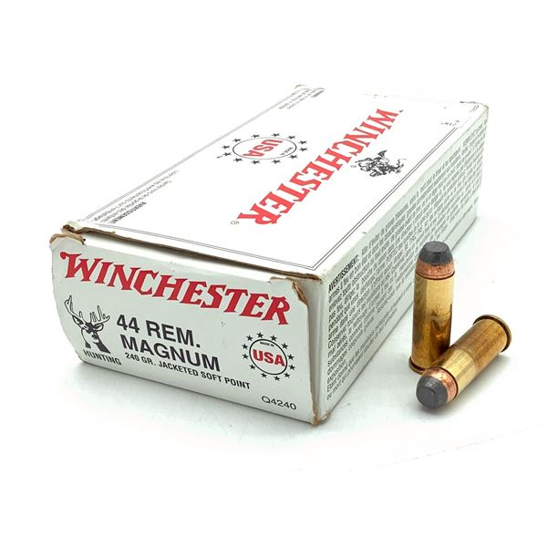 Winchester USA 44 Rem Mag 240 Grain JSP Ammunition, 44 Rounds