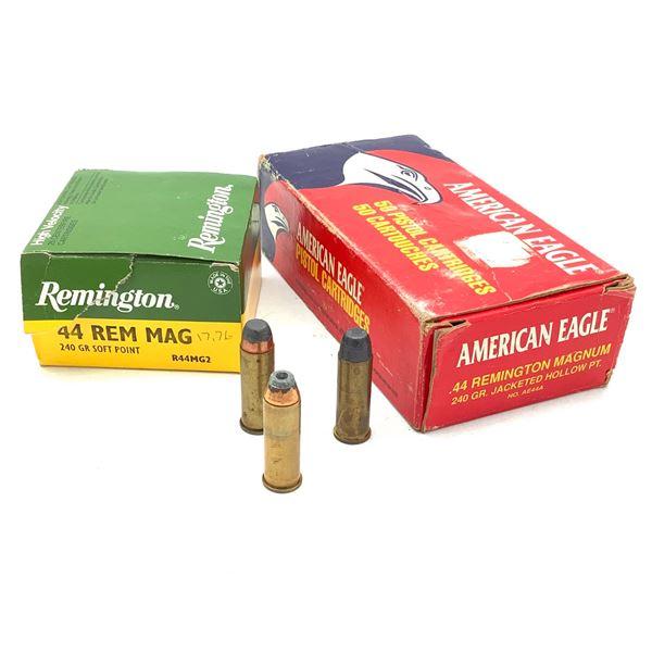 Assorted 44 Rem Mag 240 Grain Ammunition, 47 Rounds