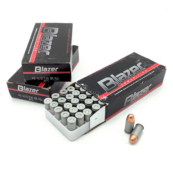 Blazer 45 ACP 230 Grain FMJ Ammunition, 150 Rounds