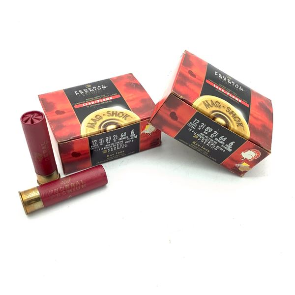 "Federal Premium Mag Shok 12 Ga 3 1/2"" #6 Ammunition, 20 Rounds"