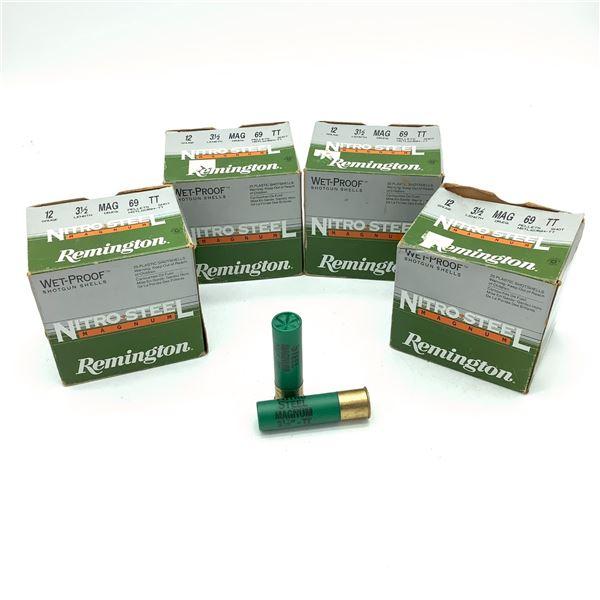 """Remington Nitro Steel 12 Ga 3 1/2"""" TT Ammunition, 81 Rounds"""