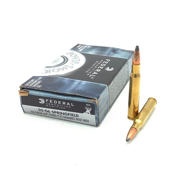 Federal Power Shok 30-06 SPRG 150 Grain Ammunition, 12 Rounds