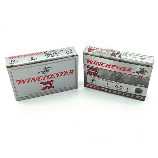 """Winchester 12 Ga 3"""" Rifled Slug Ammunition, 10 Rounds"""