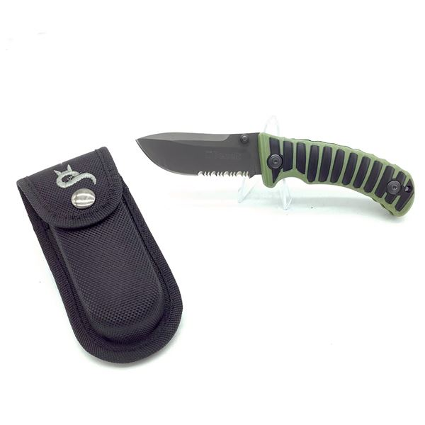 "Benelli Folding 3"" Serrated Blade With Nylon Sheath"
