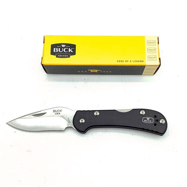 "Buck Mini Spitfire Folding 2 1/2"" Blade, Red Liner Pocket Knife, New"