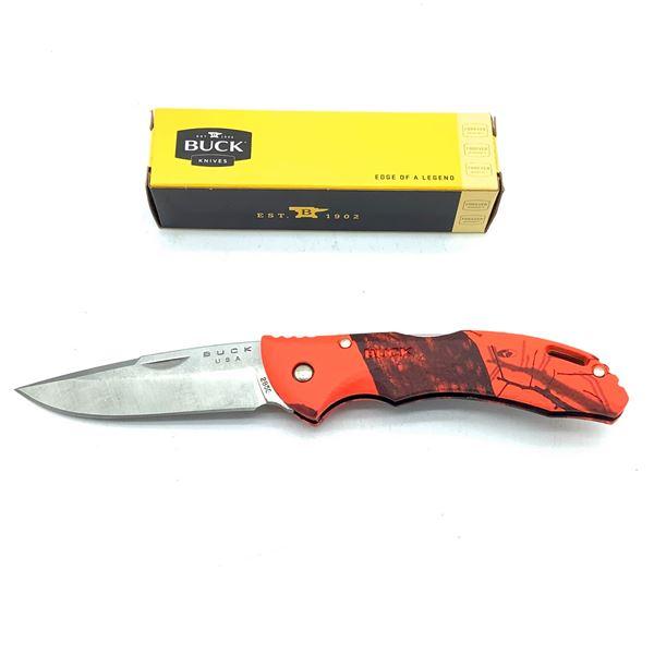 "Buck Bantam BLW Folding 3"" Pocket Knife, Camo Orange, New"