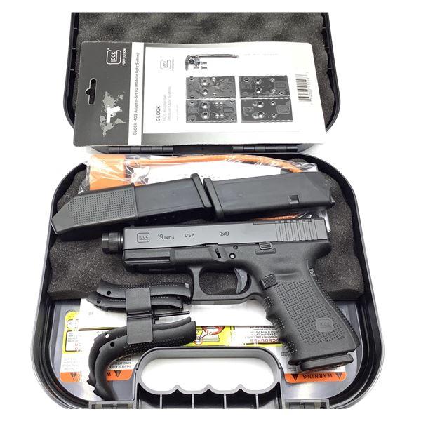 Glock 19 Gen 4 Optics Ready 9mm Semi Auto Pistol Restricted, New