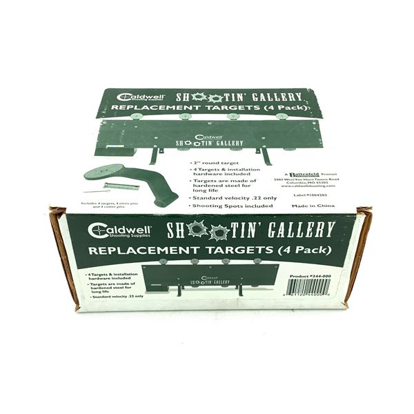 Caldwell Shootin' Gallery Replacement Targets (4 Pack), New