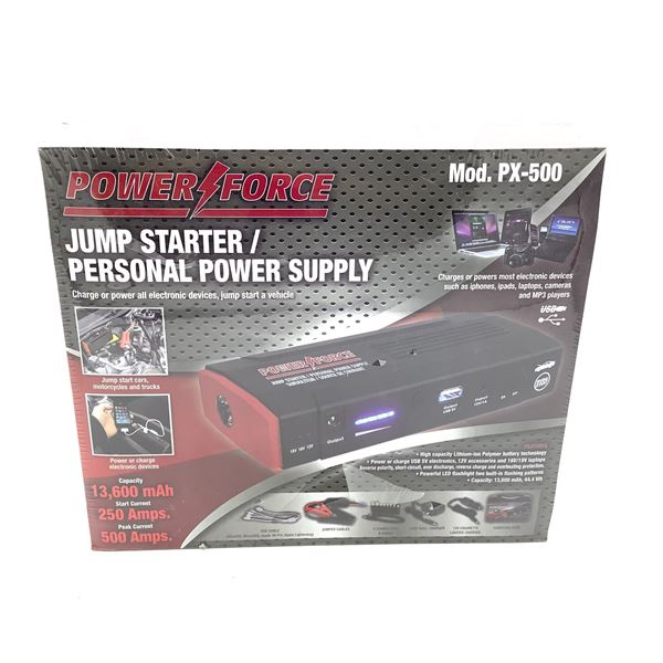 Power Force Jump Starter/ Personal Power Supply, New