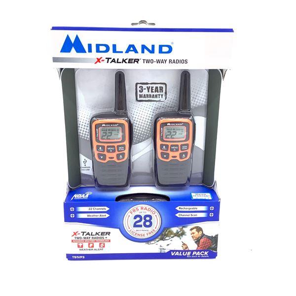 Midland X-Talker Rechargeable 2-Way Radios, New