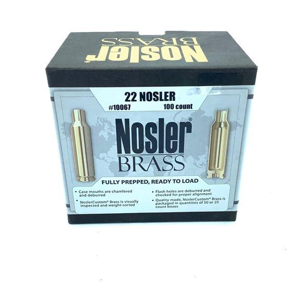 Nosler Brass 22 Nosler, 100 Ct, New