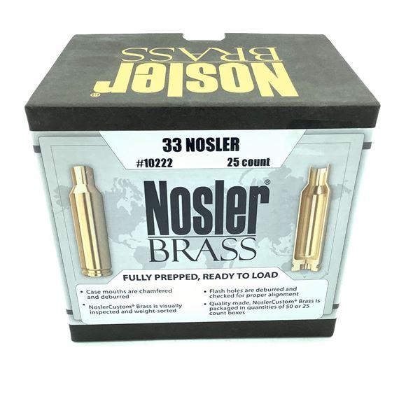Nosler Brass 33 Nosler, 25 Count, New
