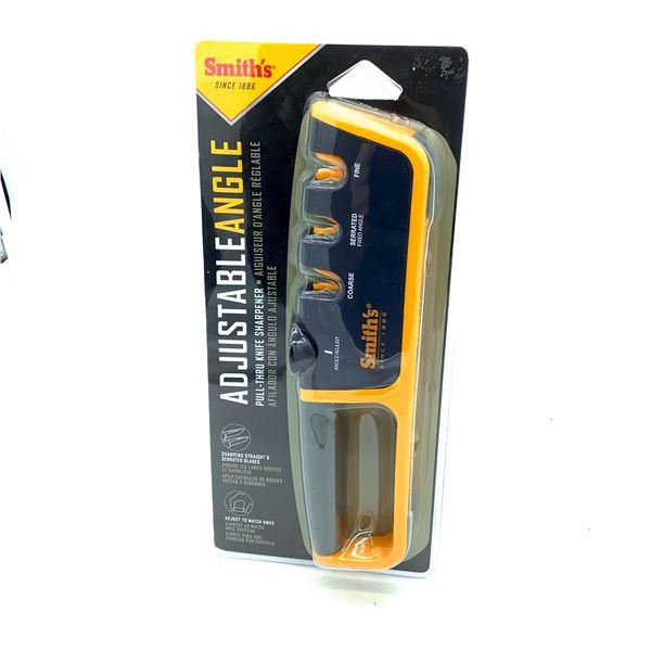 Smith's Adjustable Angle Pull-Thru Knife Sharpener, New