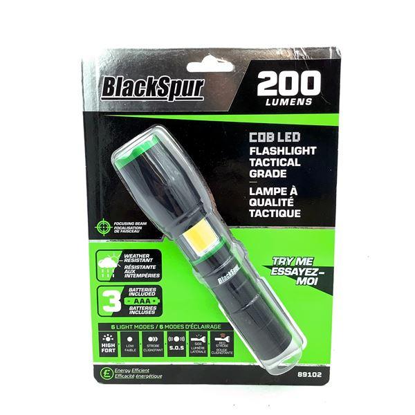 Blackspur COB LED Flashlight Tactical Grade, New
