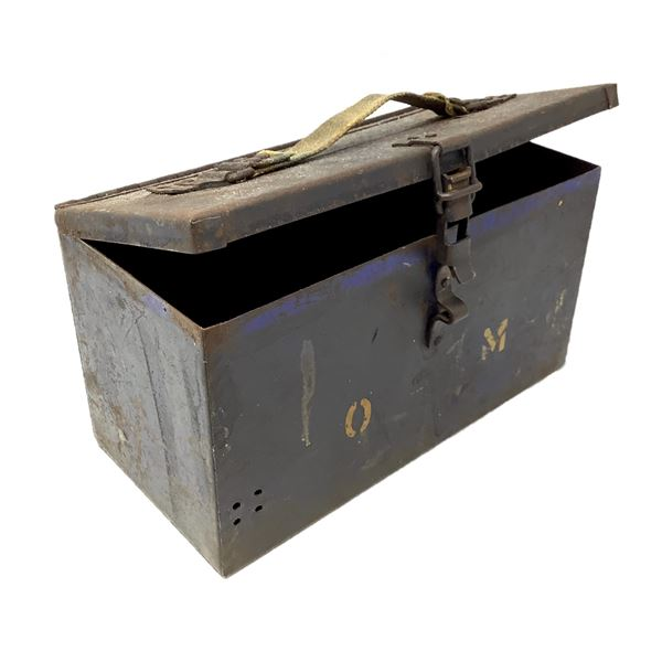 Vintage Ammo Can W Canvas Handle