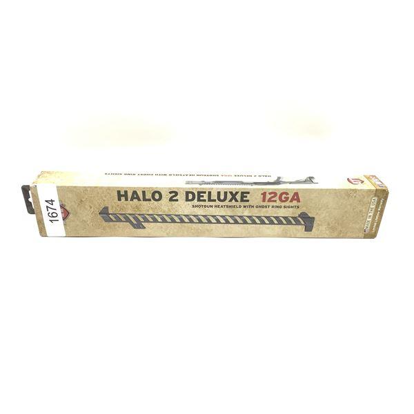 ATI Halo 2 Deluxe 12 Ga Shotgun Heatshield with Ghost Ring Sights, New