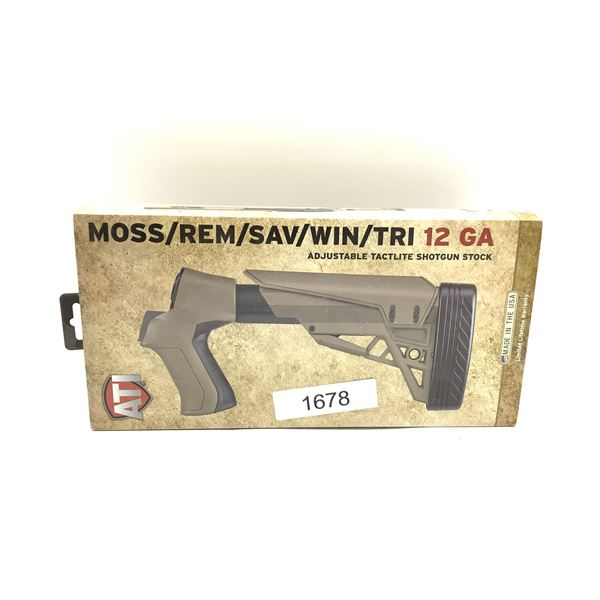 ATI 12Ga Adjustable Tactlite Shotgun Stock for Mossberg, Remington, Savage, Winchester, Tristar, New