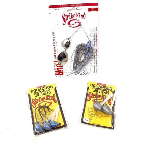 Strike King Jig Heads and Spinnerbait, New