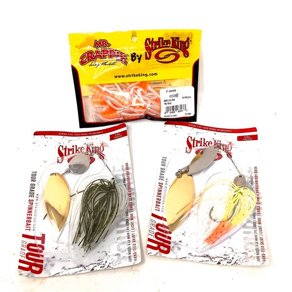 Strike King Spinnerbait X 2 and Mr. Crappie Lures, New