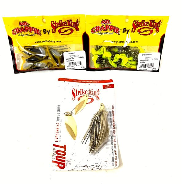 Strike King Spinnerbait and Mr. Crappie Lures X 2, New
