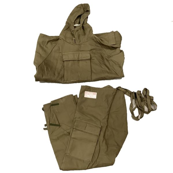 German Military Pants With Drawstring 17-10-80 and Parka 7-10-80, ODG