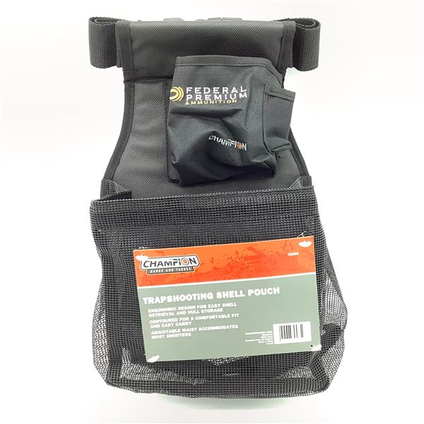 Champion Trapshooting Shell Pouch, Black, New