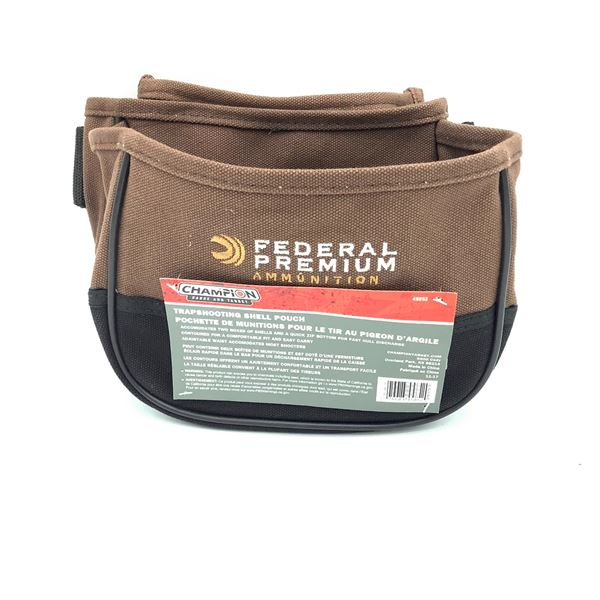 Champion Trapshooting Shell Pouch, Brown, New