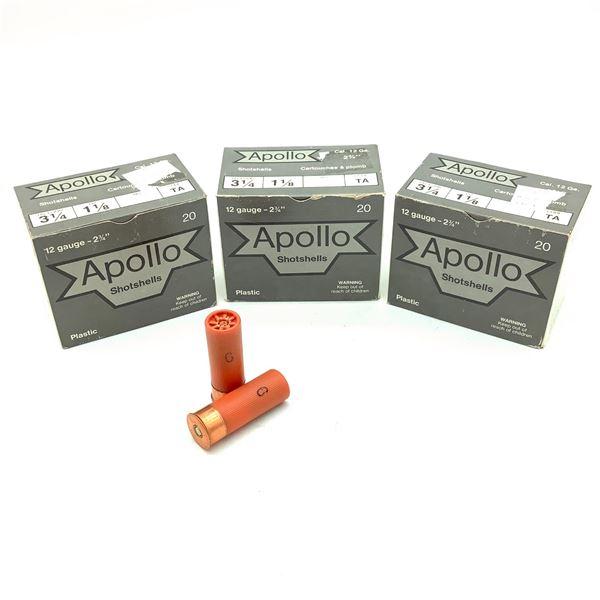 "Apollo 12 Ga 2 3/4"" #6 Ammunition, 60 Rounds"