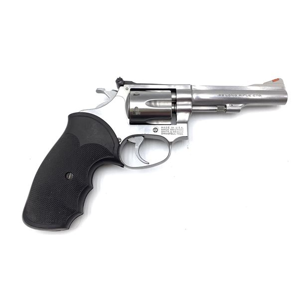 Smith and Wesson Model 63 22 LR Stainless Steel Revolver Prohibited