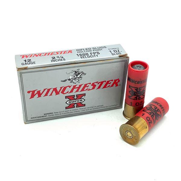 "Winchester Super X 12 Ga 2 3/4"" Rifled Slug Ammunition, 5 Rounds"