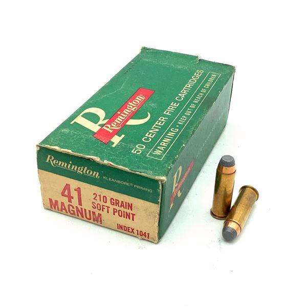 Remington 41 Magnum 210 Grain SP Ammunition, 50 Rounds
