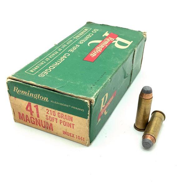 Remington 41 Magnum 210 Grain SP Ammunition, 19 Rounds